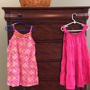 Two (2) Hanna Andersson dresses - sizes 110 & 120
